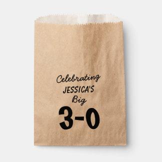 30. Geburtstags-personalisierte Party-Versorgungen Geschenktütchen