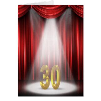 30. Geburtstags-Scheinwerfer Karte