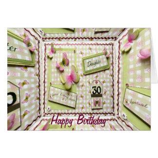 30. Geburtstags-Tochter Karte