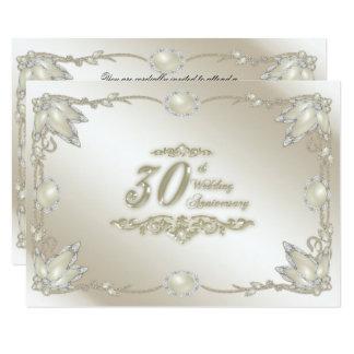 30. Hochzeits-Jahrestag UAWG 8,9 X 12,7 Cm Einladungskarte