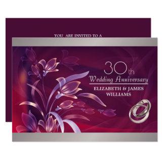 30. Hochzeits-Jahrestags-Party Einladungen