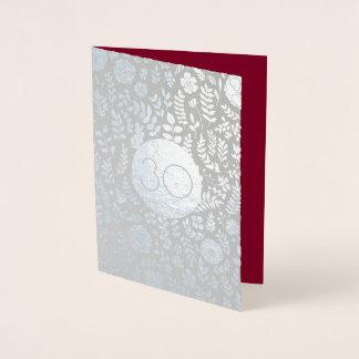 30. Hochzeitstag-Gruß-Karten Folienkarte