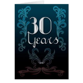 30 Jahre (Jahrestag) Karte