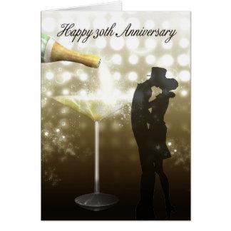 30. Jahrestag - Champagne Grußkarte
