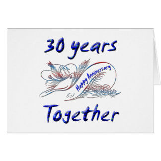 30. Jahrestag Grußkarte