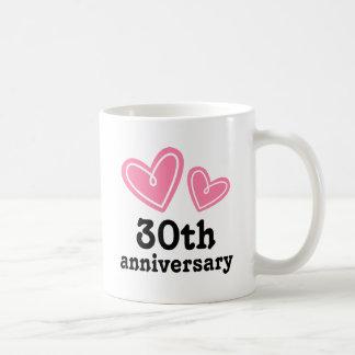 30. Jahrestags-Geschenk-Herzen Kaffeetasse