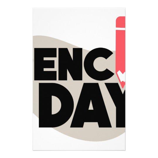 30. März - Bleistift-Tag Briefpapier
