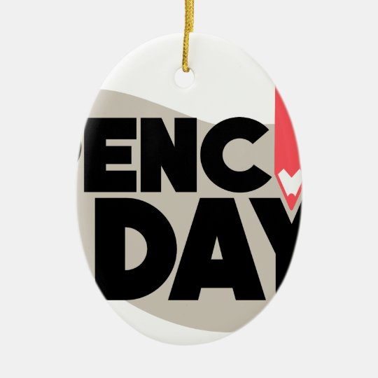 30. März - Bleistift-Tag Ovales Keramik Ornament