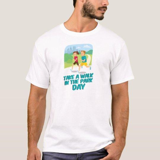 30. März - machen Sie einen Spaziergang am T-Shirt