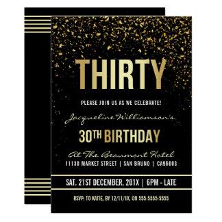 30. Schimmernder GoldConfetti des 12,7 X 17,8 Cm Einladungskarte