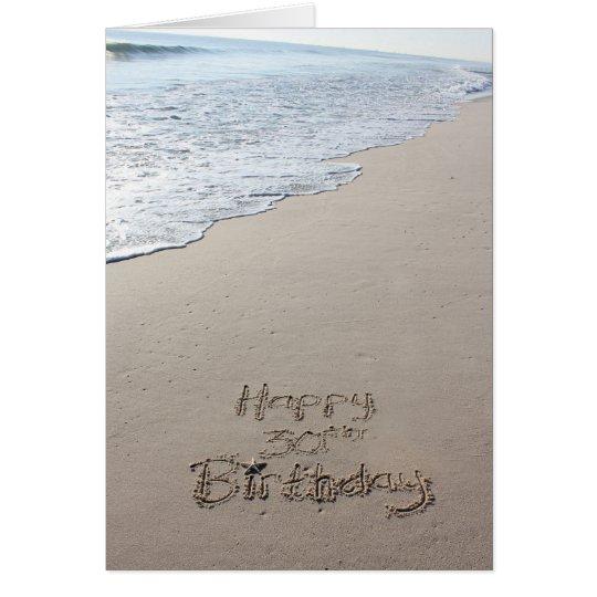 30. Strand-Geburtstags-Karte Grußkarte