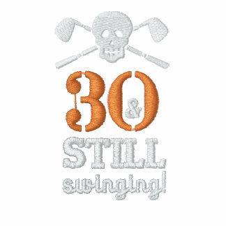 30 u. noch schwingen - Golf-Geburtstags-Shirt Besticktes Polohemd