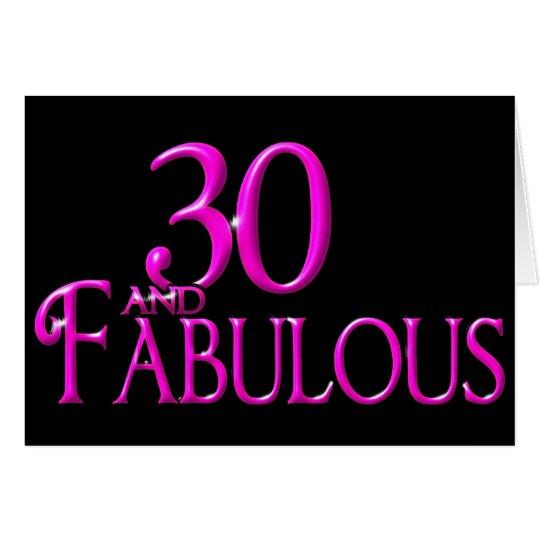30 und fabelhaftes grußkarte