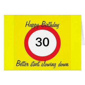 30 Verkehrsschild-Höchstgeschwindigkeitskarte Karte