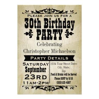 30ème invitation de fête d anniversaire de cru rus