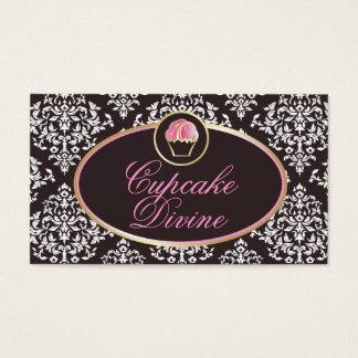 311-Cupcake erahnen festen Damast Visitenkarte