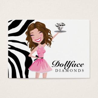 311 Dollface Diamant-Geburtstags-Umbau Visitenkarte