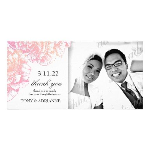 311-Le Plüsch Fleur - sahniges Rosa danken Ihnen Photokarten