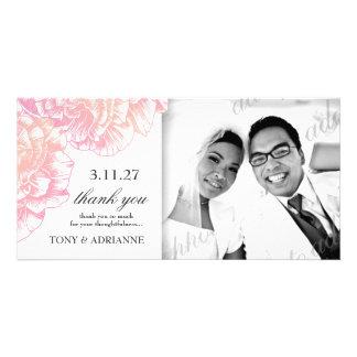 311-Le Plüsch Fleur - sahniges Rosa danken Ihnen Photokarte
