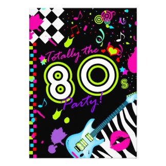 311-Totally la partie des années 80 - guitare de t Cartons D'invitation