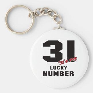 31 ist es meine Glückszahl Schlüsselanhänger