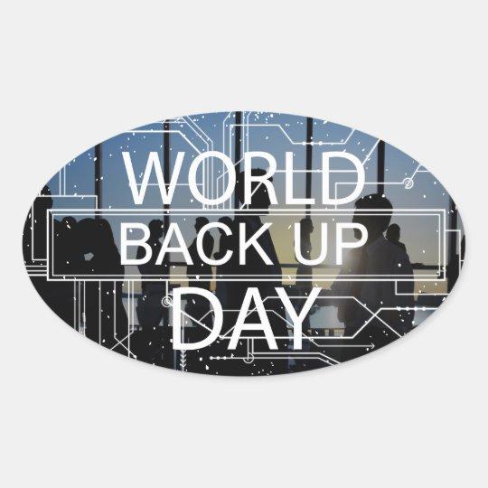 31. März - Weltaushilfstag Ovaler Aufkleber