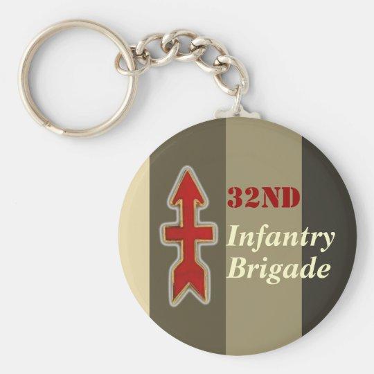 32. Infanterie-Brigaden-Militär Standard Runder Schlüsselanhänger