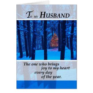 3399 Ehemann-Weihnachtsbaum im Holz Karte