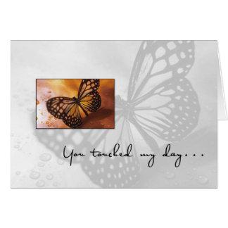 3612 danke Schmetterling Karte