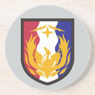36. Unterstützungs-Brigade Sandstein Untersetzer