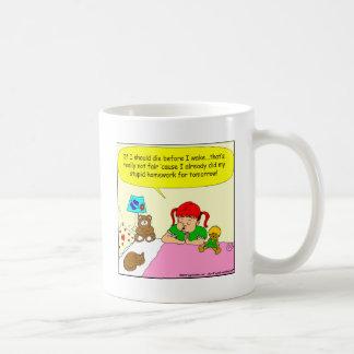 392 legen mich zum Schlaf-Cartoon fest Kaffeetasse