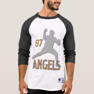 3/4 der Raglan Hülsen-Zuges Chino Hills Engel T-Shirt
