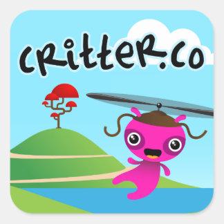 """3"""" autocollant de Critter.Co (feuille de 6)"""