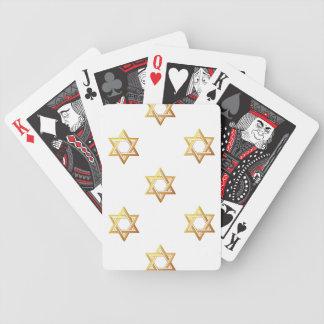 """""""3-D"""" goldener Davidsstern Bicycle Spielkarten"""