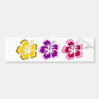 3 fleurs douces autocollants pour voiture