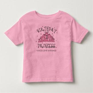 3. Geburtstag Gewohnheit Tiara-Prinzessin- Kleinkinder T-shirt