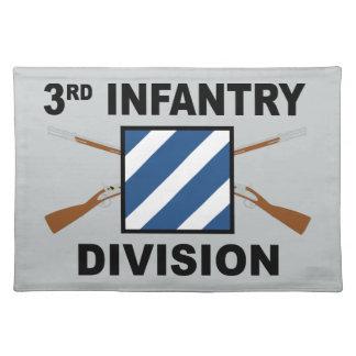 3. Infanteriedivision - gekreuzte Gewehre - mit Tischset