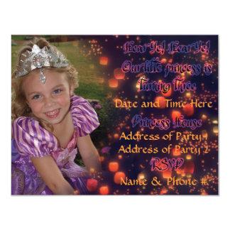 3-jährig-Prinzessin Birthday Invites mit Rückseite 10,8 X 14 Cm Einladungskarte