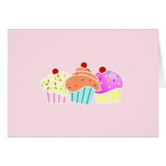 3 kleine Kuchen notecard Mitteilungskarte