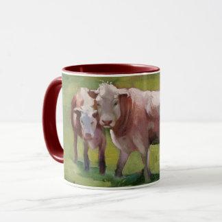 3 Kühe in einer Landschaft Tasse