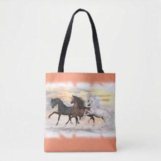 3 Pferde ganz vorbei - drucken Sie Taschen-Tasche, Tasche