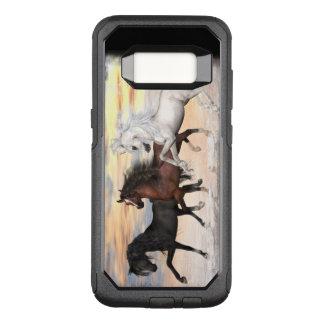 3 Pferdependler-Reihen-Fall, Auswahl-Telefon-Art OtterBox Commuter Samsung Galaxy S8 Hülle