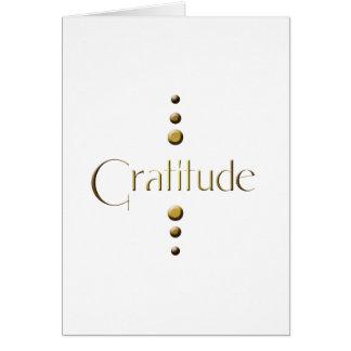 3 Punkt-Goldblock-Dankbarkeit Grußkarte