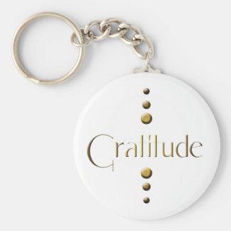 3 Punkt-Goldblock-Dankbarkeit Schlüsselanhänger