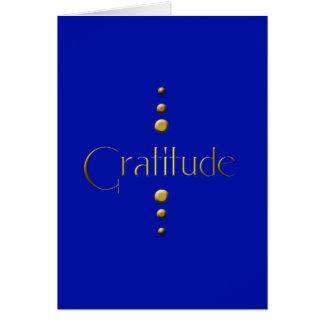 3 Punkt-Goldblock-Dankbarkeit u. blauer Mitteilungskarte