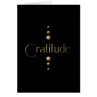 3 Punkt-Goldblock-Dankbarkeit u. schwarzer Mitteilungskarte