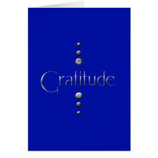 3 Punkt-silberne Block-Dankbarkeit u. blauer Mitteilungskarte
