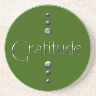 3 Punkt-silberne Block-Dankbarkeit u. grüner Hinte Untersetzer