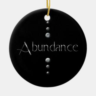 3 Punkt-silberner Block-Überfluss u. schwarzer Keramik Ornament