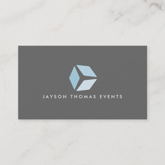 3 Quadrat Logo Graue Visitenkarte